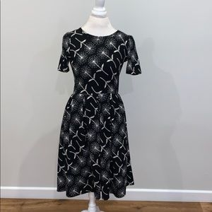 Lularoe black and white dress